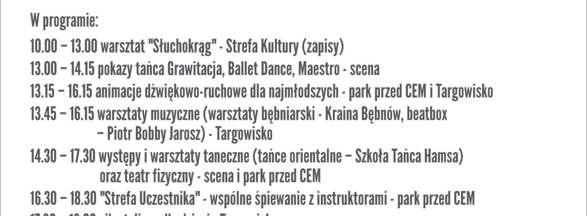 Strefa dźwięku i ruchu na targowisku w Piasecznie