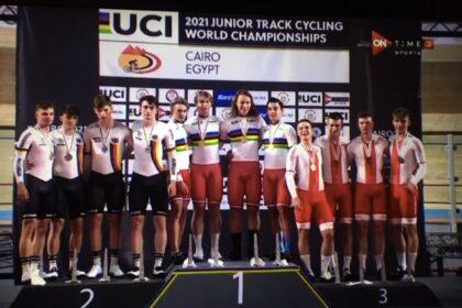 Brązowy medal na Mistrzostwach Świata w kolarstwie torowym
